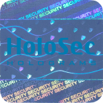 Design 1 Blue hologram with blue logo