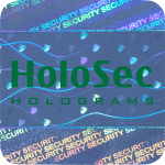 Design 1 Blue hologram with green logo