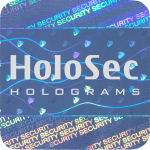 Design 1 Blue hologram with silver logo