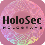 Design 2 Pink hologram with black logo