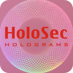 Design 2 Pink hologram with red logo
