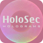 Design 2 Pink hologram with silver logo